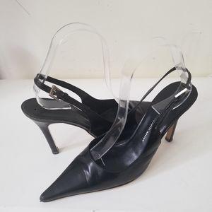 Guiseppe Zanotti heels sling back leather sz36
